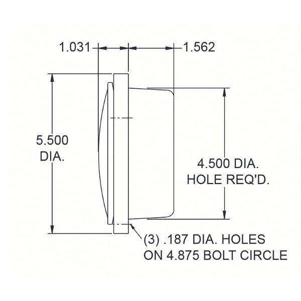 45 Series Dimensions Shallow