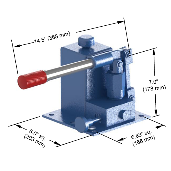 High Capacity Pump Dimensions