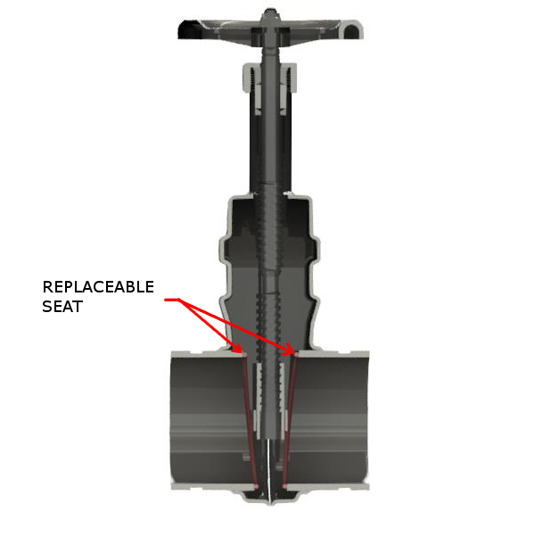 Replaceable Seat Half View