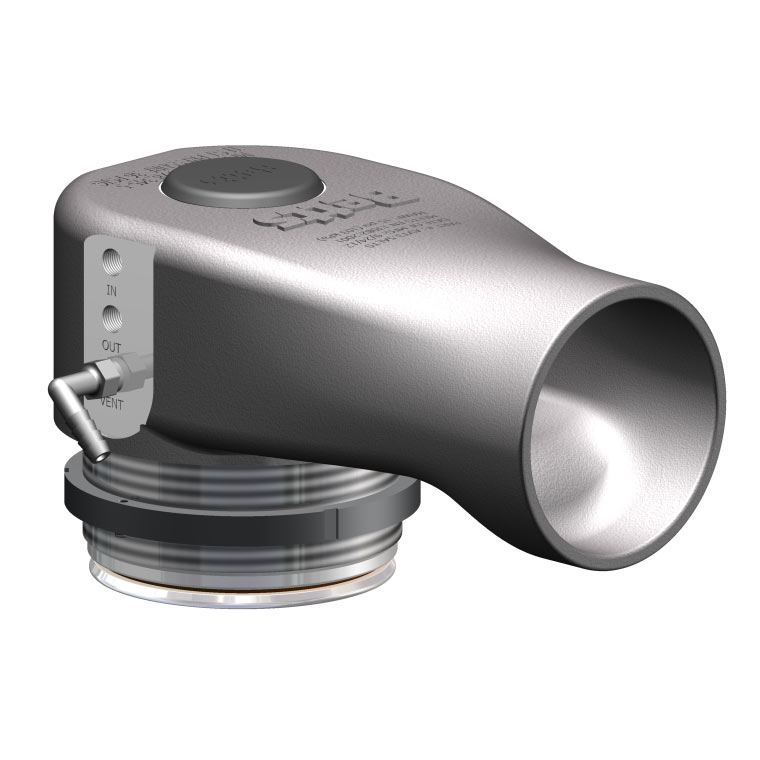 "3.5"" Aluminum Pneumatic Vapor Valve - Threaded Thumbnail"